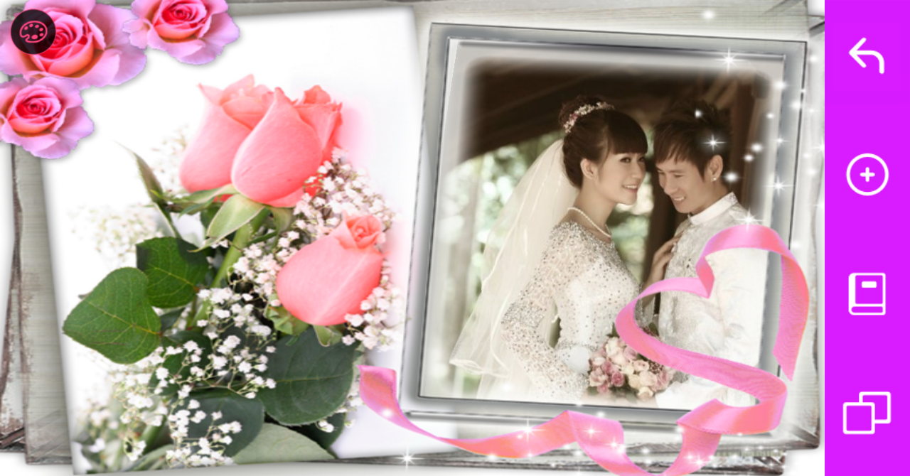 wedding frames photo editor screenshot