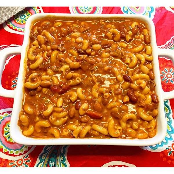 Cheesy Mac And Chili Bean Soup Recipe