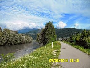 Photo: Izera i szlak turystyczno-rowerowy w Gieres