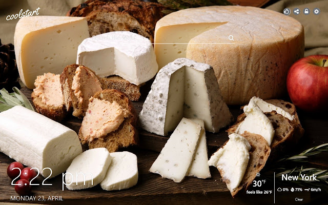 Cheese HD Wallpapers Food New Tab Theme
