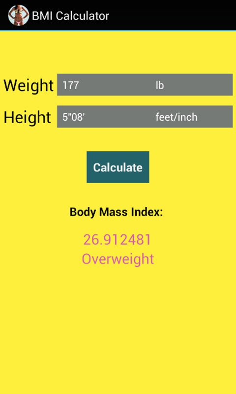 BMI Calculator for Weight Loss- screenshot