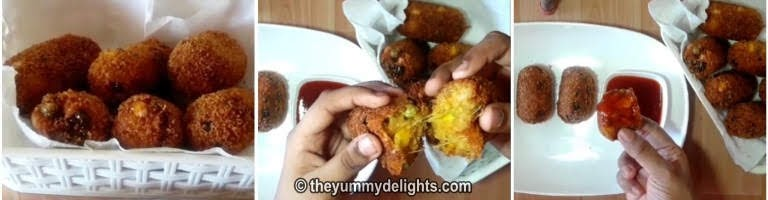 serve veg nuggets hot with tomato sauce