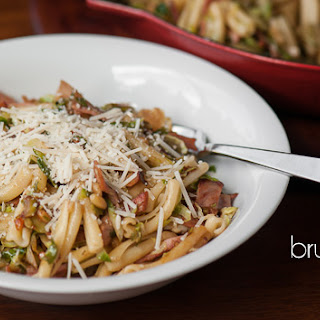 Ham and Brussel Sprout Pasta