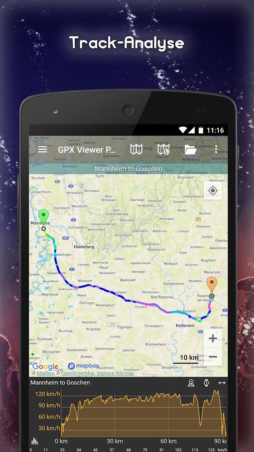 gpx viewer pro zeichnen von tracks routen wegpunkten android apps download. Black Bedroom Furniture Sets. Home Design Ideas