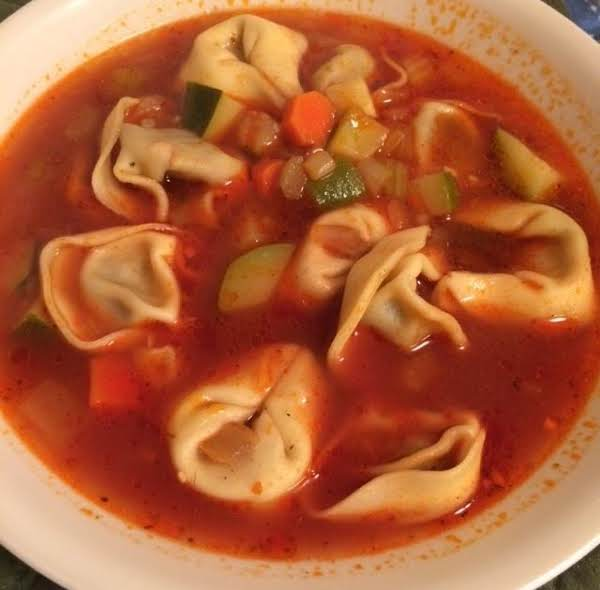 Tomato Sweet Sausage And Vegetable Tortellini Soup Recipe
