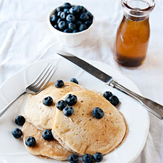 Lemon Pancakes with Vanilla Bean Syrup