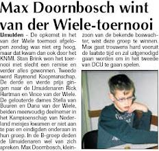 Photo: Max Doornbosch wint van der Wiele-toernooi 14 januari 2010