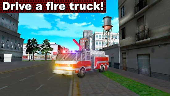 Fire Truck Emergency Driver 3D - náhled