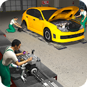 Car Mechanic Engine Overhaul - Auto Repair Shop 3D