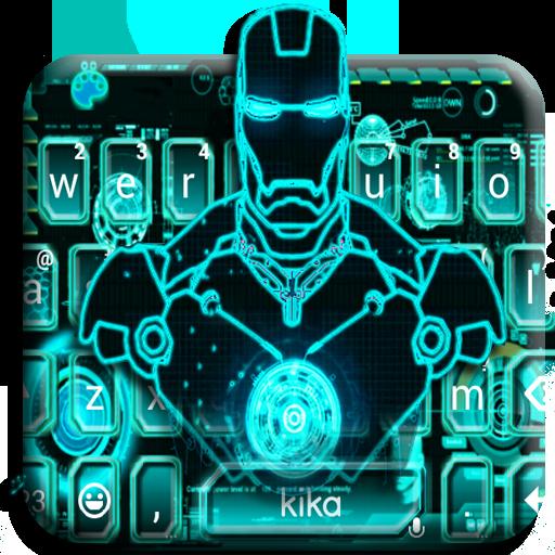 Ai Robot Neon Keyboard Theme Icon