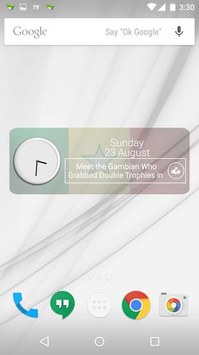 Senegal Clock RSS Widget