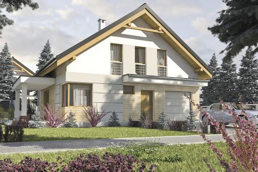 projekt Nowinka II z garażem 1-st. A