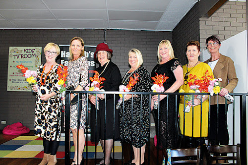 Models - Jenny Darley, Leah Rees, Robyn Grover, Jenny Bradshaw, Gwen Hardy, Cheryl Shields and Tracy Urquhart.