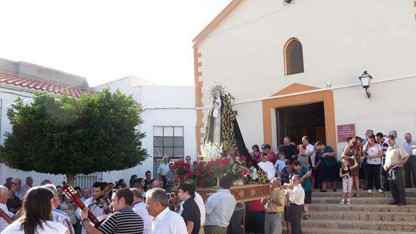 Fiesta de Urcal en honor a su patrona la Virgen de los Dolores en una edición anterior.