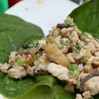 Chilli, Ginger And Lemongrass Chicken On Betel Leaves.