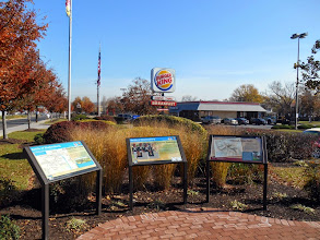 Photo: Drive a little further down the Annapolis Road and you get to this. The Burger King Line. (I lunched there.)