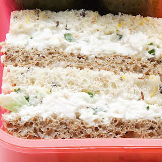 Poached Chicken Sandwiches With Lime Mayonnaise.