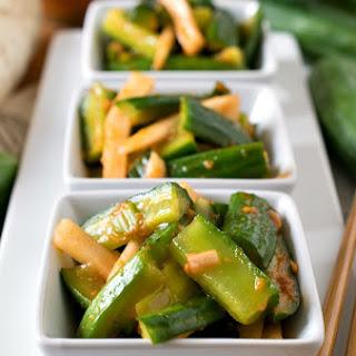 Korean-Style Marinated Cucumbers