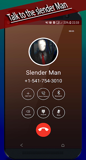 slender Man's video call / chat simulator (prank)  captures d'écran 2