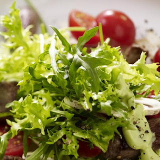 Lamb Salad with Avocado Dressing.
