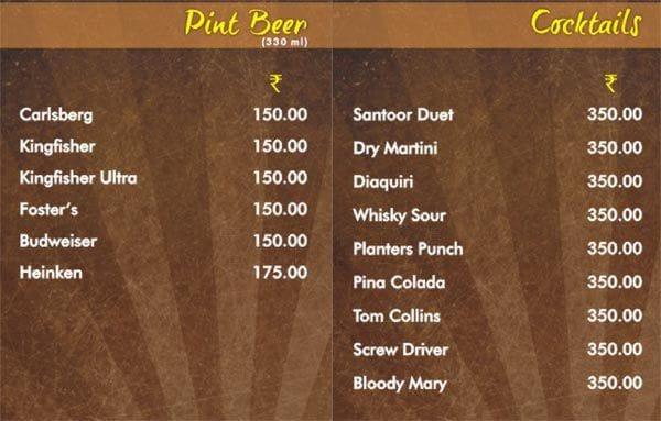 Santoor menu 4
