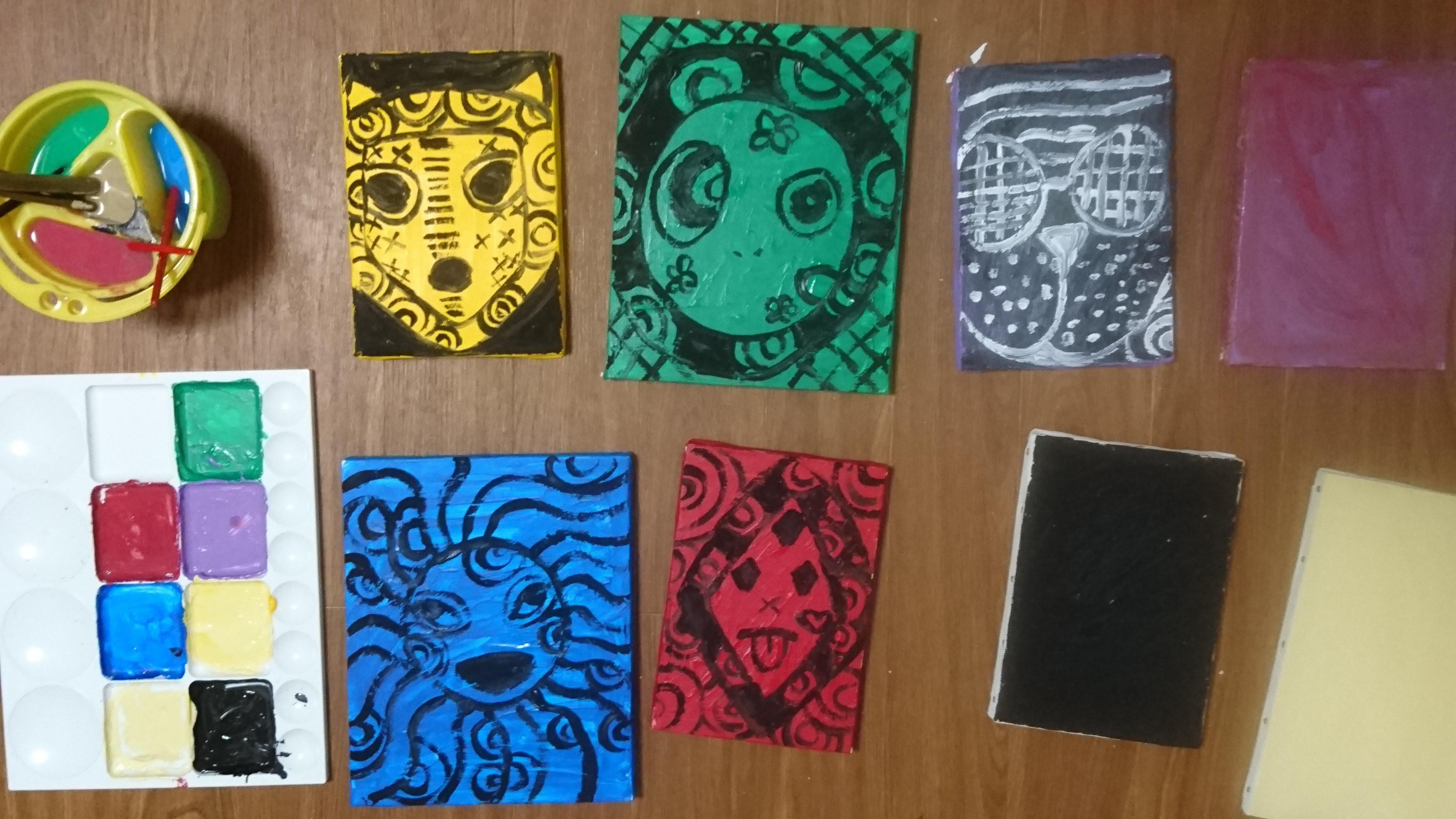 5 Masks / [仮面 叢] 5枚 - 伊藤洋子の美術