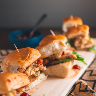 Thanksgiving Leftovers Sliders With Cranberry Mango Sauce.
