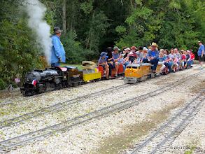 Photo: Engineer Art Morris rolls on the main in East Sumrall       2013-1116 RPW