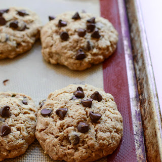 Oatmeal Chocolate Chip Cookies (made with honey and whole wheat flour).