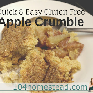 Gluten Free Apple Crumble.