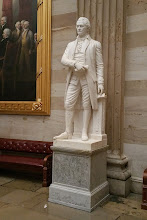 Photo: US Secretary of the Treasury (under George Washington), Alexander Hamilton, 1755-1804. He died of a gunshot wound he received in a duel with then US Vice President Aaaron Burr. http://www.aoc.gov/capitol-hill/other-statues/alexander-hamilton
