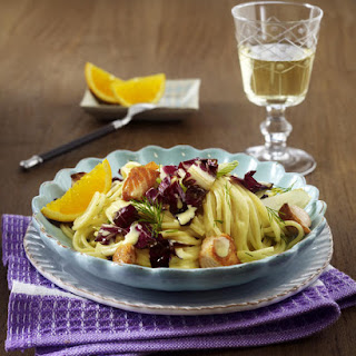 Salmon Pasta with Radicchio and Fennel.
