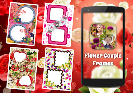 Flower Couple Collage Frames screenshot 0