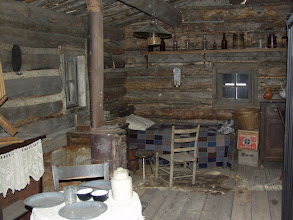Photo: Interior of the Ron Howard 1870's cabin