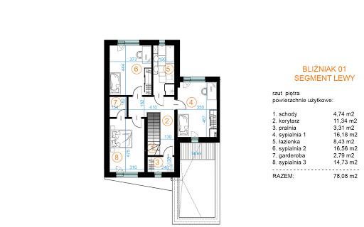 Bliźniak 01 - Rzut piętra