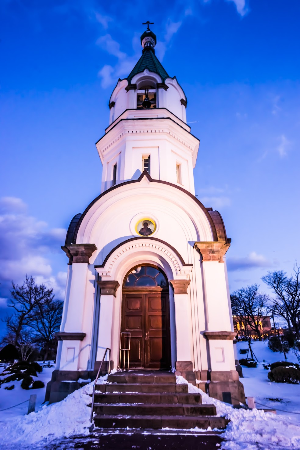 Hakodate Orthodox Church evening view2