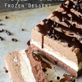 Triple Chocolate Frozen Dessert.