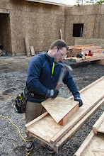 Photo: 10 second jig to cut a few rafters.