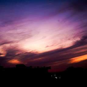 Something about sunsets by Shakool Das - Landscapes Sunsets & Sunrises ( cloud formations, colour combination, sunset, silhouette, marmalade sky )