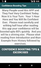 Self Confidence Building Tips screenshot thumbnail