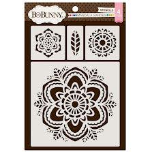 BoBunny Thick Stencils 9.5X6.5 - Mandala Garden UTGÅENDE