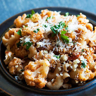 Pasta with Cauliflower, Tomato, and Parmesan