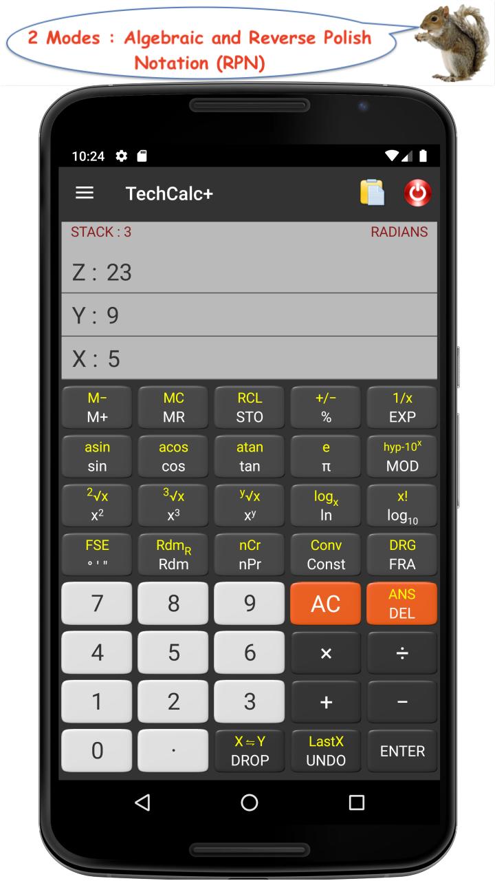 TechCalc+ Scientific Calculator (adfree) Screenshot 1