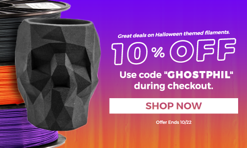 Great deals on Halloween themed filaments.