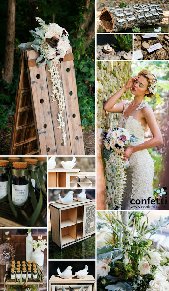 Photo: Feel like Queen of the Forest with a stunning woodland wedding theme!  Find all of the shown items and more in our shop at Confetti.co.uk (particularly in the Woodland theme.)  Items featured above include (in no particular order):  - Miniature Natural Birch Wood Circle Slices - Cubist Laser Cut Natural Wood Keepsake Box - Mini Clear Glass Bottle with Cork - Miniature Sitting Birds in White Ceramic - Rustic Wood Decorative Tray with Ornamental Handles - White Glass Bottle Décor Set - Contemporary Baroque Diecut Acrylic Sign - Woodland Pretty Rectangular Label - Ribbon  ~~~~~~~~~~~ #wedding   #woodland   #theme   #themes   #weddingthemes   #weddingtheme   #woodlandweddingtheme   #weddingcentrepieces   #centrepieces   #personalised   #inspiration   #weddinginspiration   #accessories   #weddingaccessories   #outdoor   #forest   #rustic