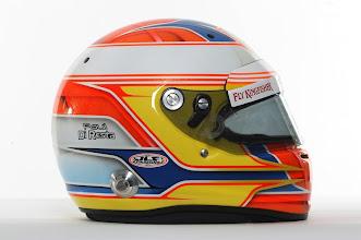 Photo: The helmet of Paul di Resta (GBR) - Sahara Force India Formula One Team - Driver Studio Photoshoot - Silverstone, UK, 02.02.2012 -  Sahara Force India Formula One Team Copyright Free Image