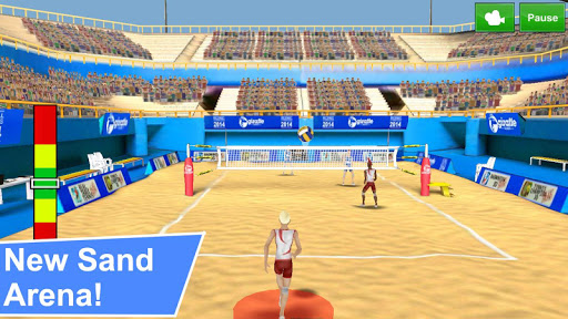 Volley-ball 3D captures d'u00e9cran 1