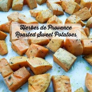 Herbes de Provence Roasted Sweet Potatoes.