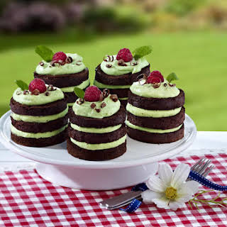 Mini Mint and Chocolate Cakes.
