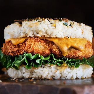 Chicken Katsu Rice Burger.